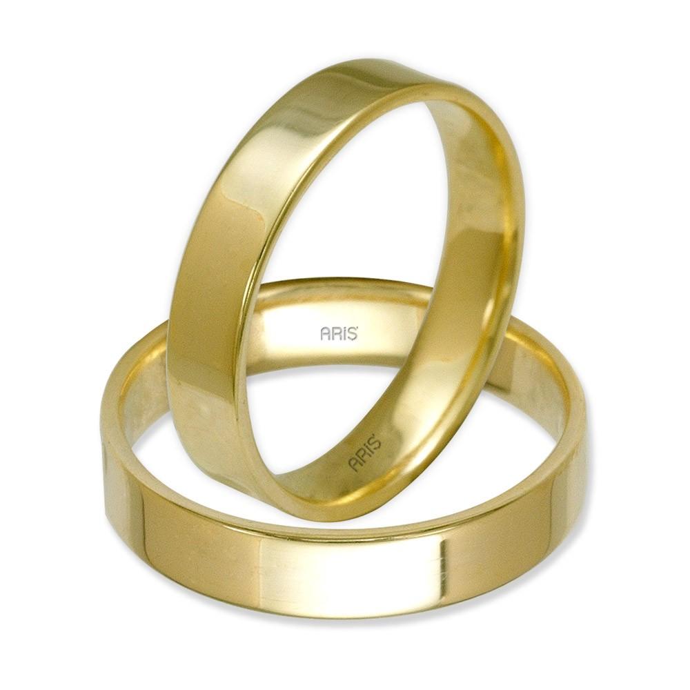 Düz Altın Alyans (4 mm)