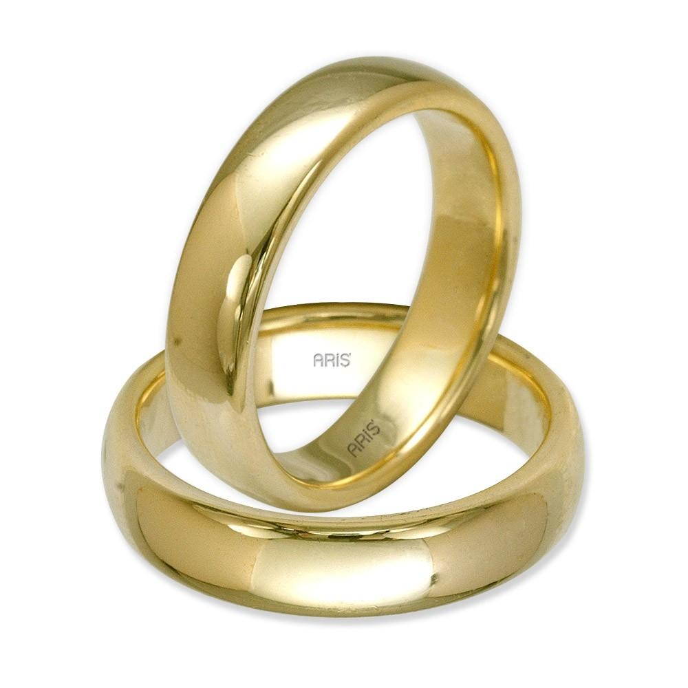 Klasik Bombeli Altın Alyans (5 mm)