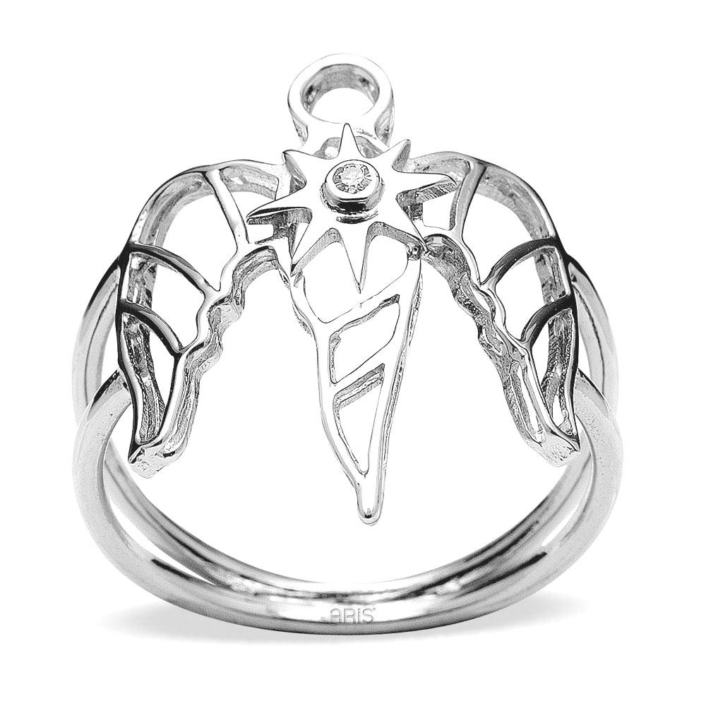 Pırlanta Gümüş Şifa Meleği İsrafil Yüzük