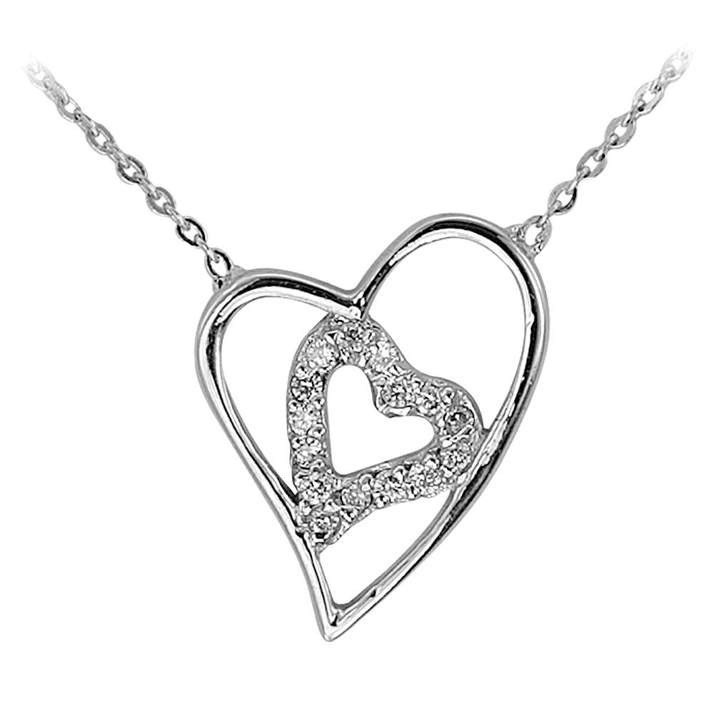 Pırlanta Kalp Kolye  Aşkın Kalbimde!