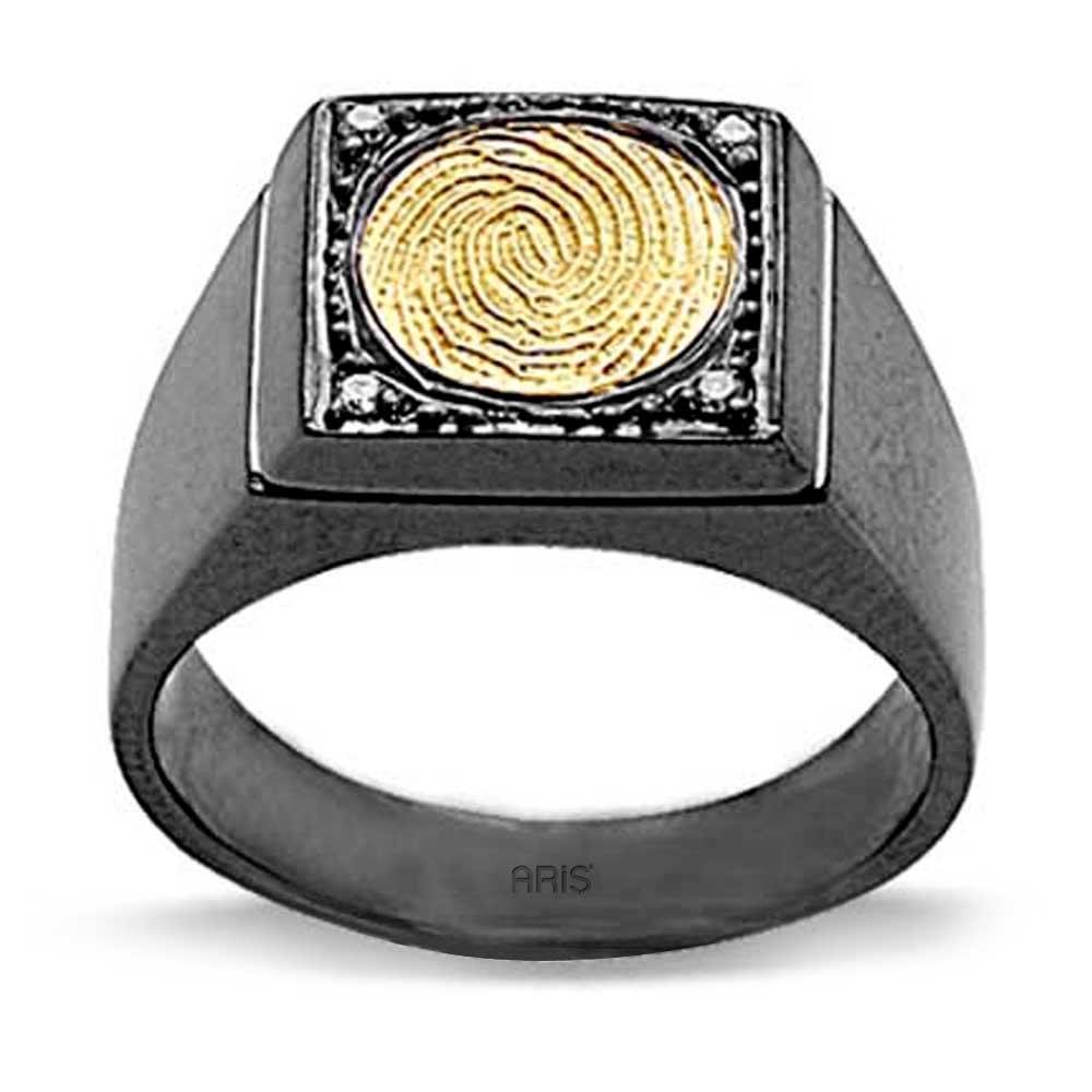Pırlanta Parmak İzi Yüzük Altın ve Gümüş Audreanna