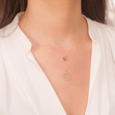 Altın Peridot Kolye