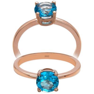 Ametist- Sitrin- Mavi Topaz Altın Yüzük