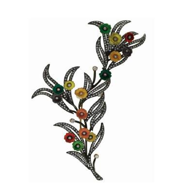 6.90 Karat Pırlanta Çiçekli Broş
