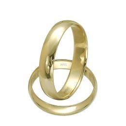 Klasik Bombeli Altın Alyans (4 mm)