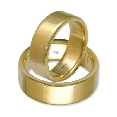 Klasik Düz Altın Alyans (7 mm)