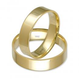 Klasik Düz Altın Alyans (5 mm)