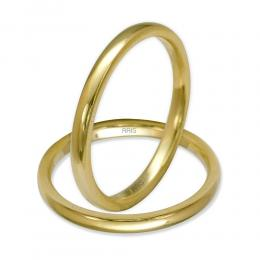 Klasik Bombeli Altın Alyans (2 mm)