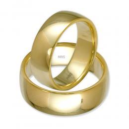 Klasik Bombeli Altın İkili Alyans (7 mm)