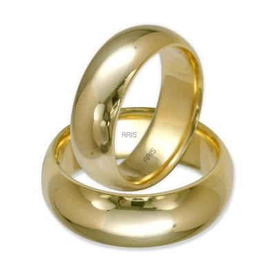 Klasik Dış Bombeli Altın Alyans (7 mm)