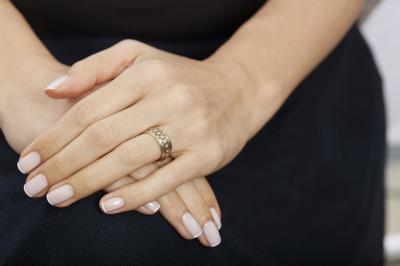 Pırlanta Altın Evlilik Alyansı Yaşam Çiçeği