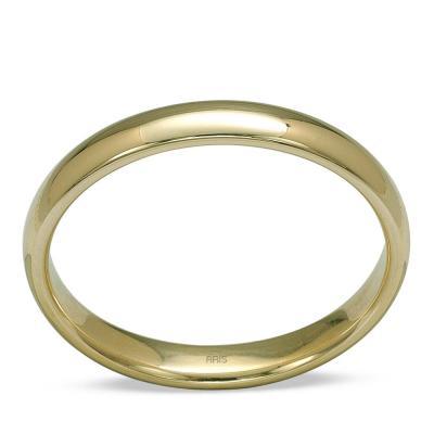 Pırlantalı Bombeli Altın Alyans (3 mm)