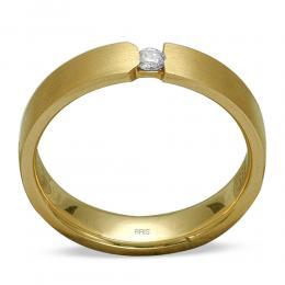 Pırlanta Evlilik Alyansı Altın