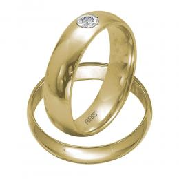 Pırlanta Bombeli Evlilik Alyansı Miracle (4 mm)
