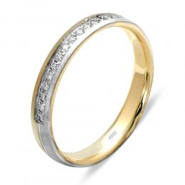 Pırlantalı Evlilik Alyansı (3 mm)