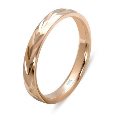 Desenli Altın Evlilik Alyans