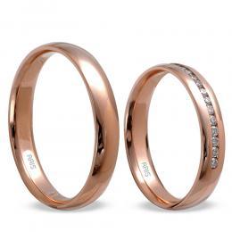 Pırlanta Sıra Taşlı Evlilik Alyansı