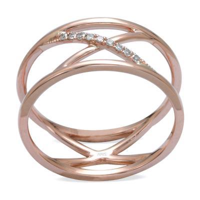 Rose Gold Geometrik Tasarım Yüzük