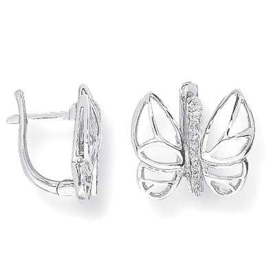 Pırlanya Gümüş Kelebek Küpe