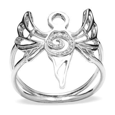 Pırlanta Gümüş Huzur Meleği Azrail Yüzük