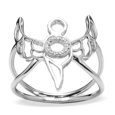 Pırlanta Gümüş Bilgelik Meleği Zadkiel Yüzük