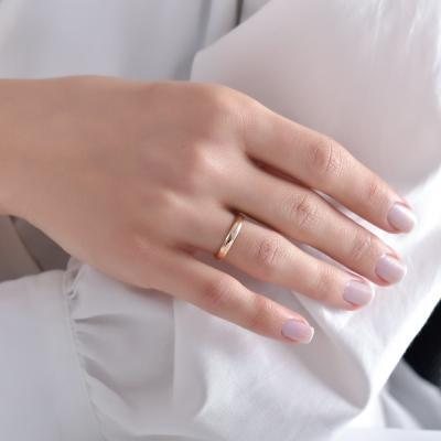 Platin Pırlanta Bombeli Evlilik Alyansı (3 mm)