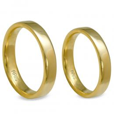 Düz Klasik Altın Alyans (4 mm)