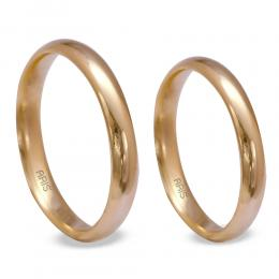 Klasik Bombeli Altın Alyans (3 mm)