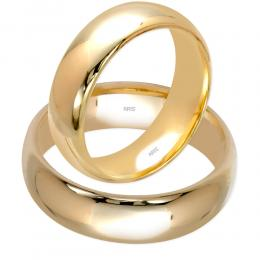 Klasik Bombeli Altın Alyans (6 mm)