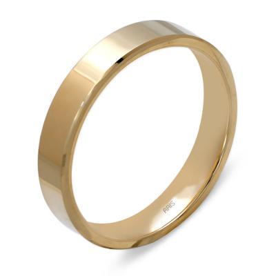 Klasik Düz Altın Alyans (4 mm)