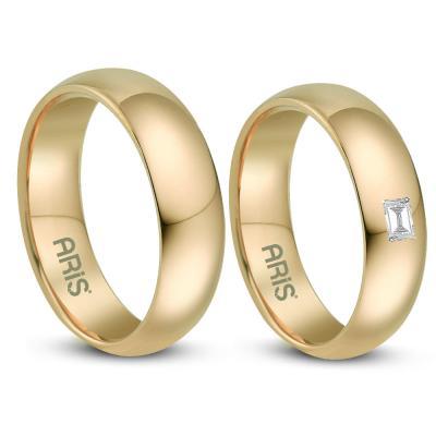 Pırlanta Baget Evlilik Alyans