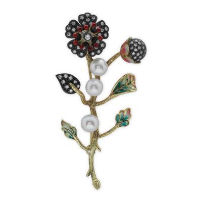 Pırlanta Art Nouveau Broş