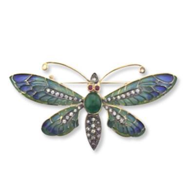 Pırlantalı Art Nouveau Broş