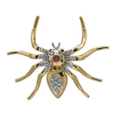 Pırlanta Örümcek Broş