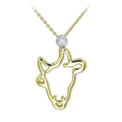 Pırlanta Boğa Burcu Altın Kolye Taurus