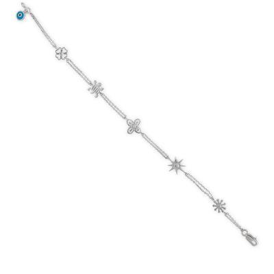 Pırlanta Sembol Gümüş Bileklik